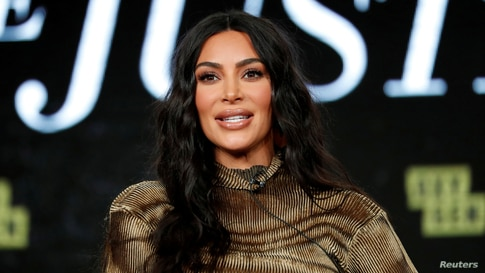 "FILE PHOTO: Television personality Kardashian attends a panel for the documentary ""Kim Kardashian West: The Justice Project"" during the Winter TCA (Television Critics Association) Press Tour in Pasadena"