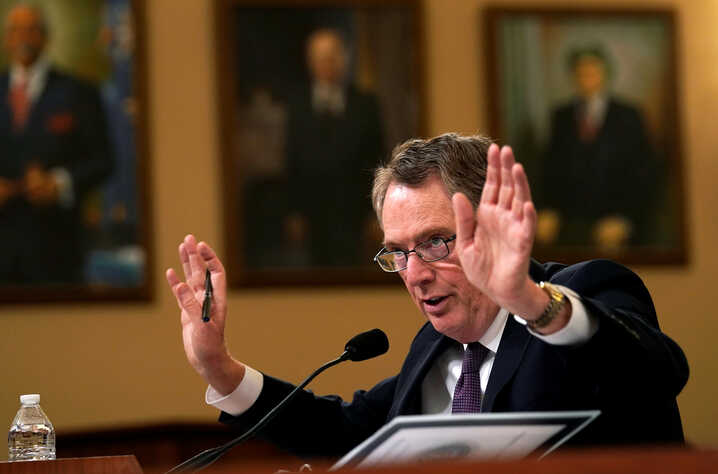U.S. Trade Representative Robert Lighthizer testifies before a House Ways and Means Committee hearing on U.S.-China trade on Capitol Hill in Washington, Feb. 27, 2019.  REUTERS/Kevin Lamarque - RC1A57D410F0