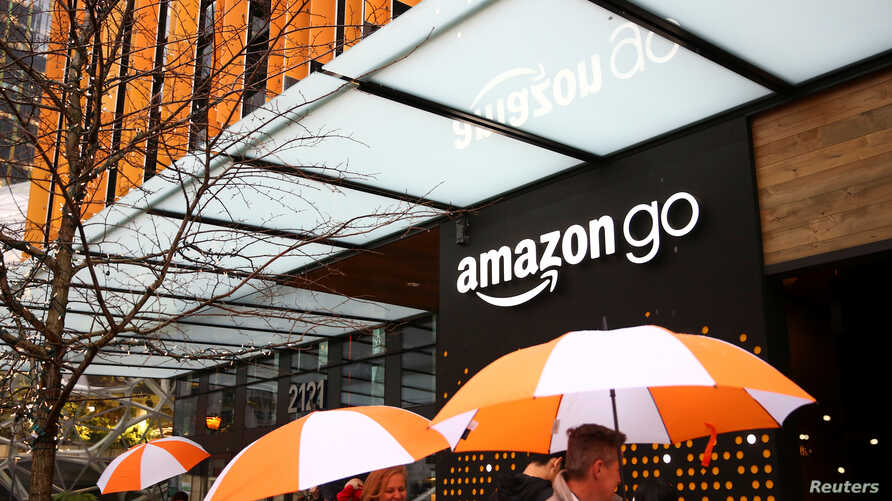 Archivo - Tienda Amazon Go en Seattle, Washington.