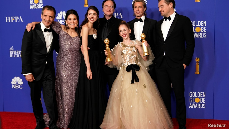 """77th Golden Globe Awards - Photo Room - Beverly Hills, California, U.S., January 5, 2020 - The cast of """"Once Upon A Time...In…"""