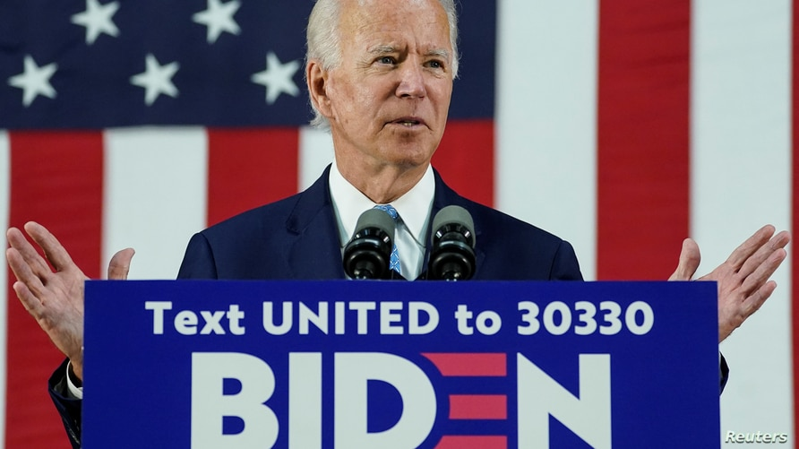 Democratic U.S. presidential candidate and former Vice President Joe Biden speaks about the Trump administration's handling of…