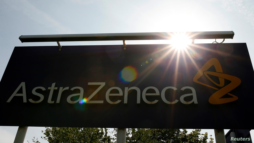 A sign is seen at an AstraZeneca site in Macclesfield, central England May 19, 2014. Britain's Prime Minister David Cameron…
