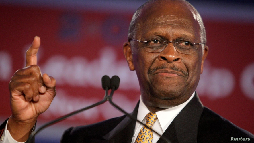 FILE PHOTO: Republican presidential hopeful Herman Cain speaks during the Republican Leadership Conference in New Orleans,…