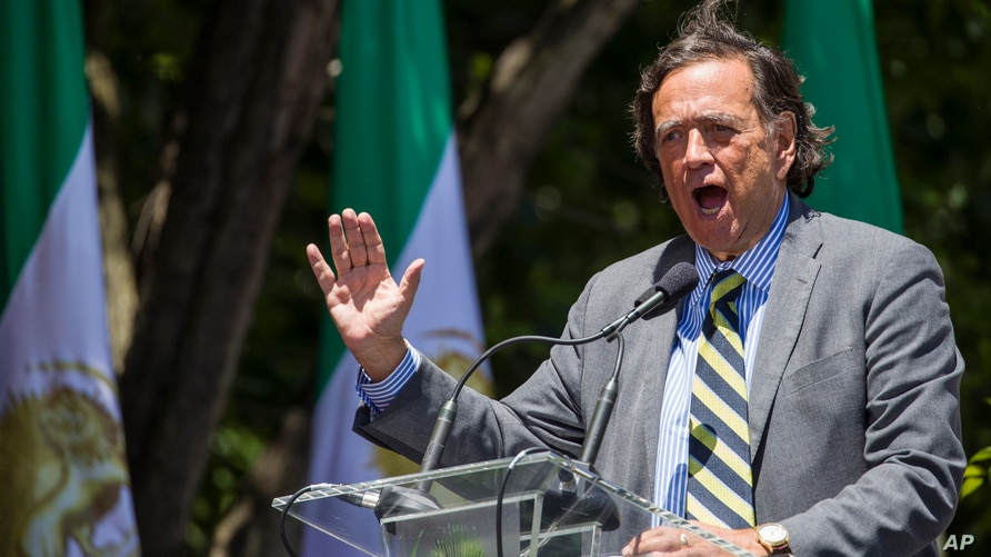 Former U.N. Ambassador and New Mexico Gov. Bill Richardson, speaks to activists gathered at the State Department before a march…