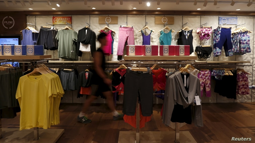 Pure Apparel are displayed at its fitness centre in Hong Kong, China, February 3, 2016. REUTERS/Bobby Yip