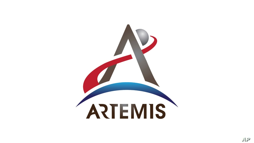 This image made available by NASA on Thursday, July 19, 2019 shows the logo for the agency's Artemis program. The program aims…