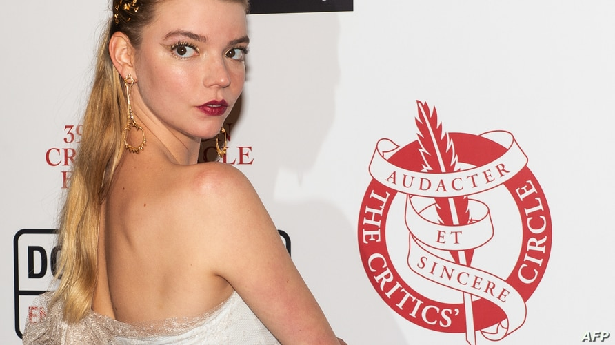 British-Argentine actress Anya Taylor-Joy poses on the red carpet arriving for the London Critics' Circle Film Awards in London…