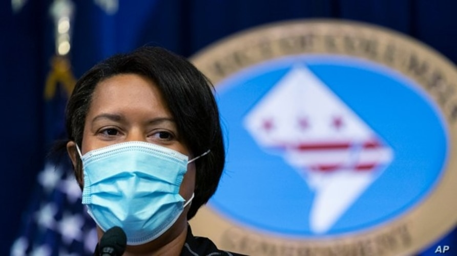 District of Columbia Mayor Muriel Bowser speaks during a press briefing, Sept. 14, 2020, in Washington.