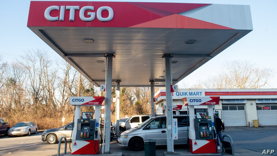 A Citgo gas station, the US-based subsidiary of the Venezuelan state oil company PDVSA, is seen in Washington, DC, January 31,…