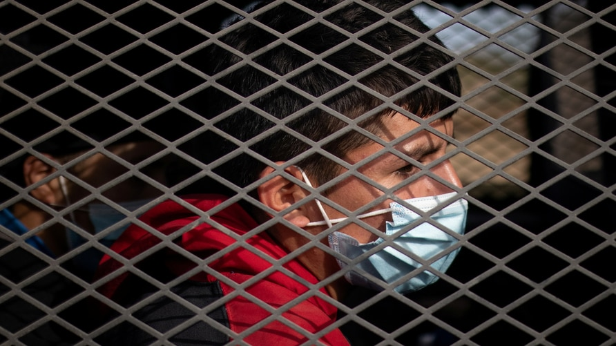 FILE PHOTO: Asylum seeking unaccompanied minors are transported in a U.S. Border Patrol vehicle after they crossed the Rio…