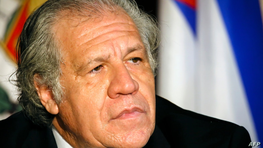 Secretary General of the Organization of American States (OAS) Luis Almagro listens during the InterAmerican Institute for…