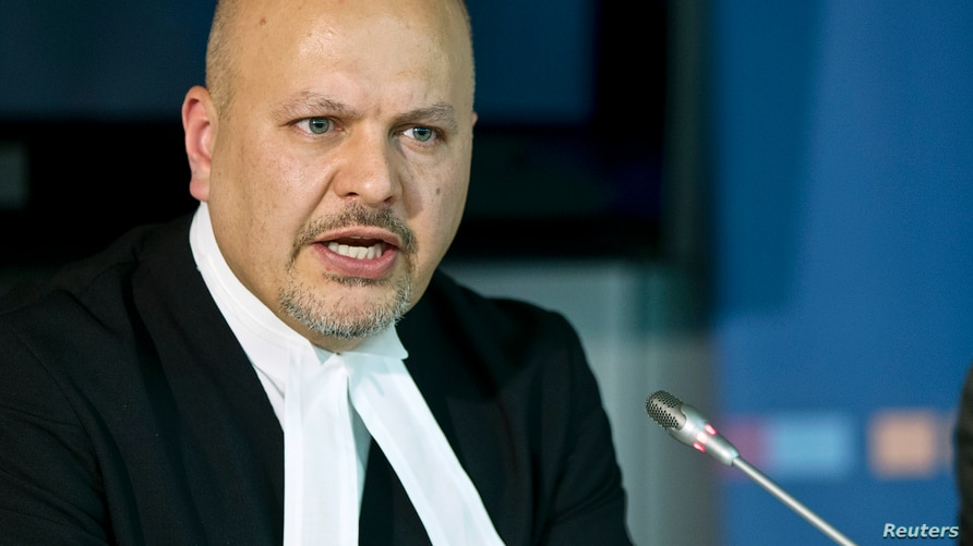 Defence Counsel for Kenya's Deputy President William Ruto, Karim Khan attends a news conference before the trial of Ruto and…
