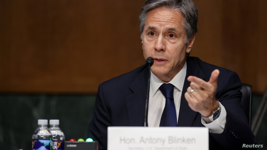 Secretary of State Antony Blinken testifies about the State Department budget before the Senate Appropriations Committee on…