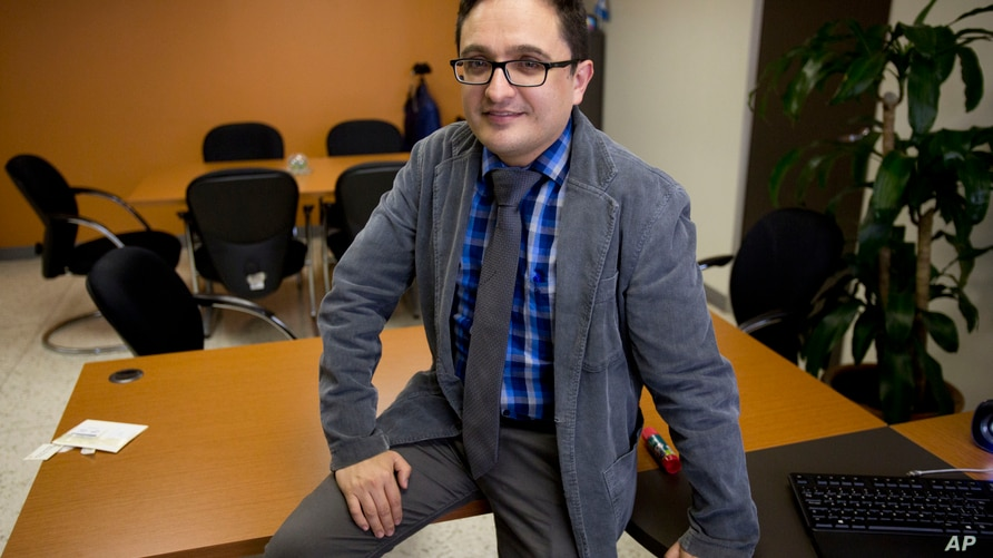 Juan Francisco Sandoval, Guatemala's lead prosecutor against impunity, poses for a photo during an interview in Guatemala City,…