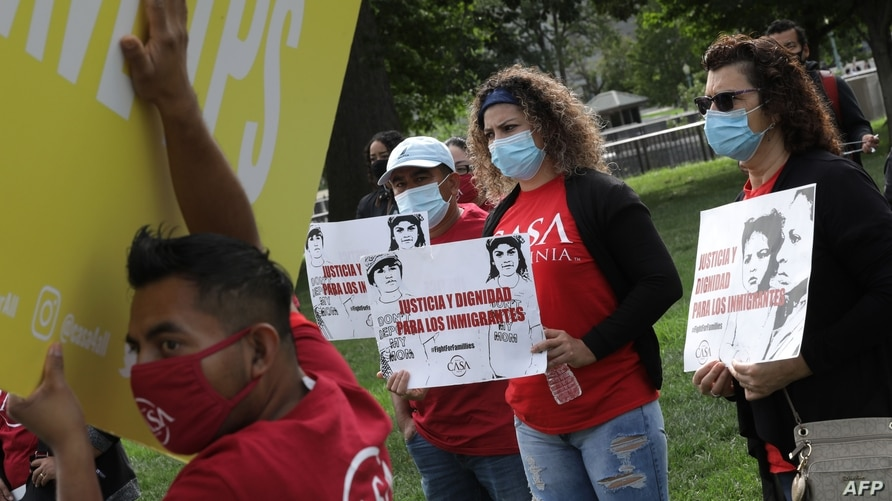 WASHINGTON, DC - SEPTEMBER 15: Supporters of the National TPS Alliance, a grassroots organization made up of immigrant rights…