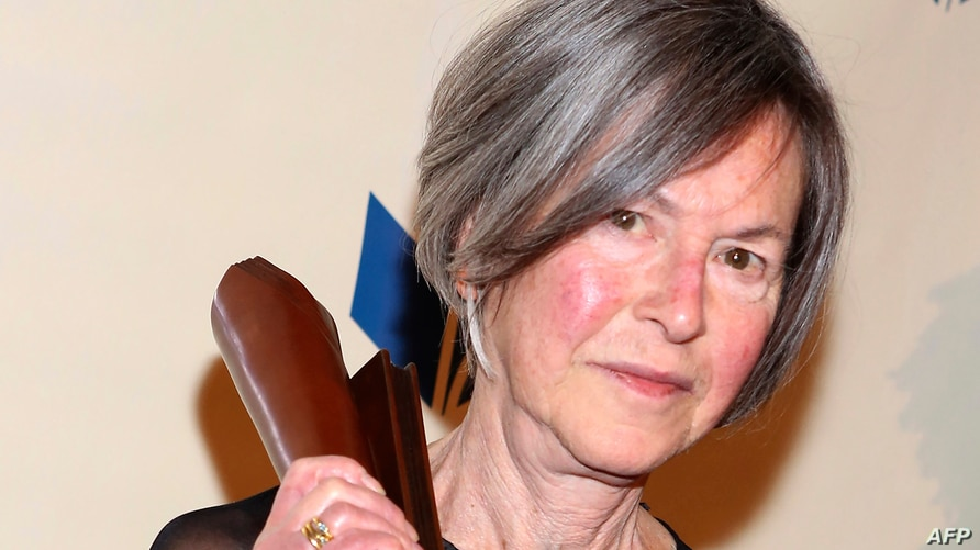 (FILES) This file photo taken on November 19, 2014 shows Louise Gluck attending the 2014 National Book Awards in New York City…