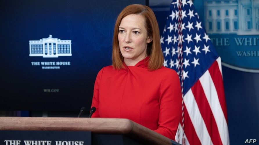 White House Press Secretary Jen Psaki speaks during a press briefing on February 17, 2021, in the Brady Briefing Room of the…