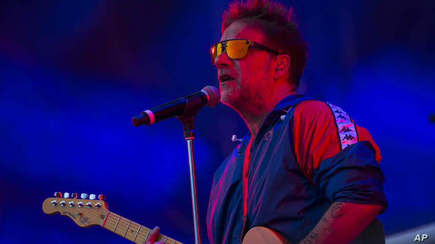 Argentina's Vicentico performs during the Vive Latino music festival in Mexico City, Saturday, March 14, 2020. The two-day rock…
