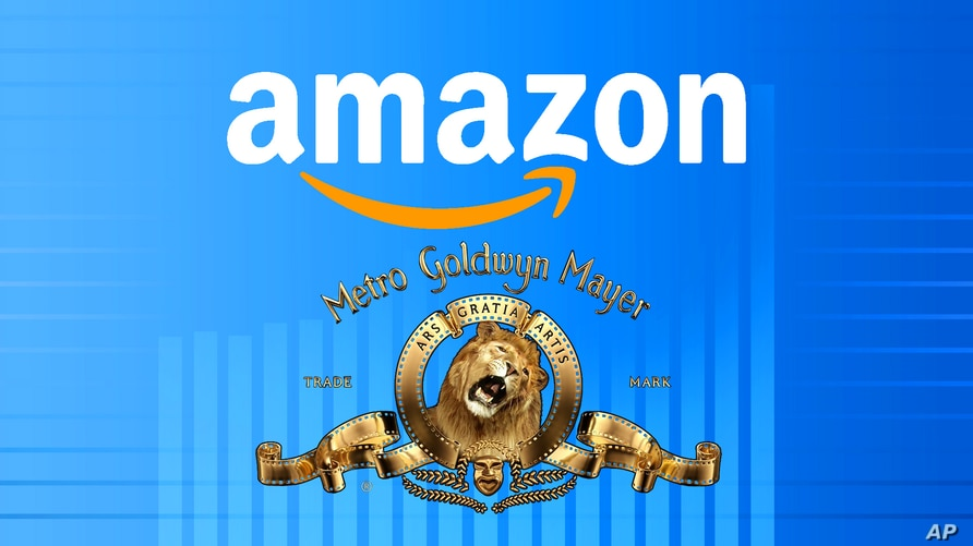 AMAZON and MGM logos, on texture, partial graphic