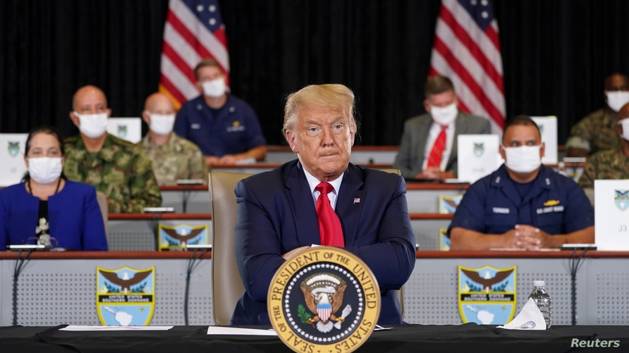 U.S. President Trump visits the U.S. Southern Command (SOUTHCOM) in Doral, Florida