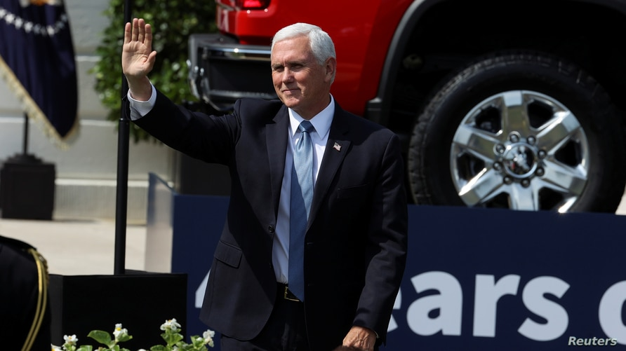 U.S. Vice President Pence attends Trump event about regulations at the White House in Washington