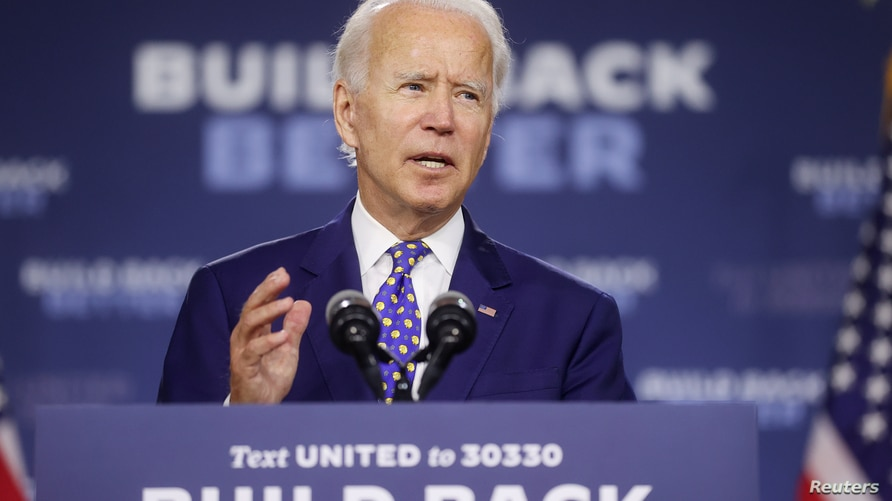 FILE PHOTO: Democratic presidential candidate Joe Biden holds campaign event in Wilmington, Delaware