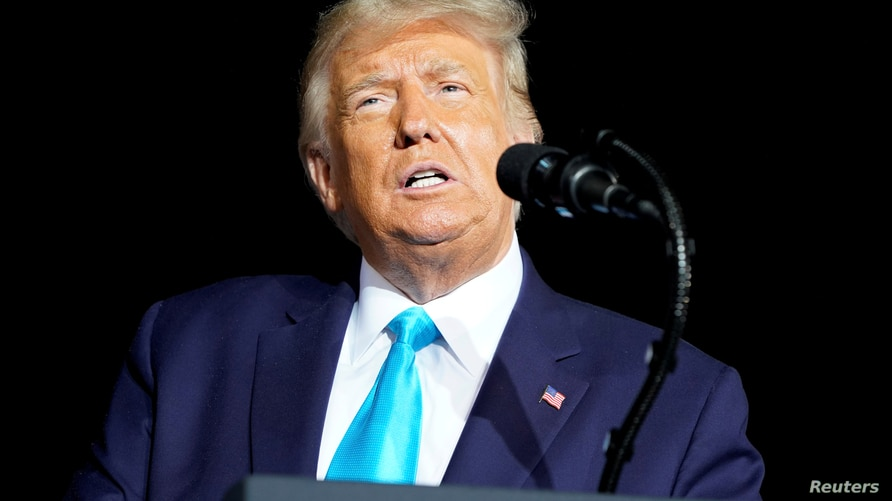 FILE PHOTO: U.S. President Donald Trump holds a campaign event at Harrisburg International Airport in Middletown, Pennsylvania