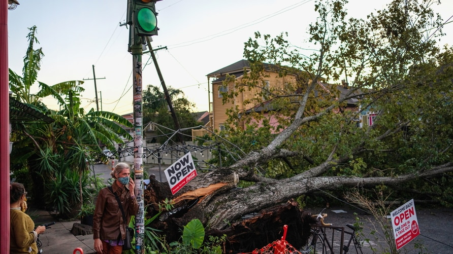 Hurricane Zeta aftermath in New Orleans