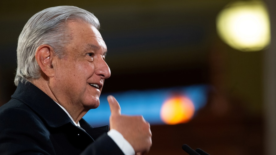 FILE PHOTO: Mexico's President Andres Manuel Lopez Obrador holds a news conference at the National Palace in Mexico City