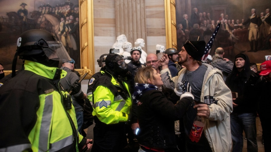 Trump supporters breach the US Capitol