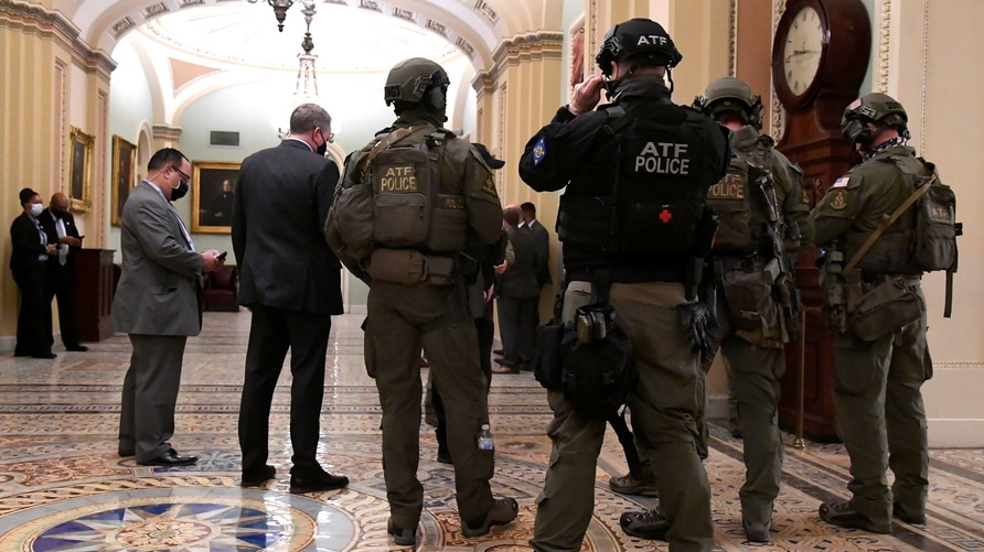 Heavy security at US Capitol as joint session continues to certify 2020 presidential election