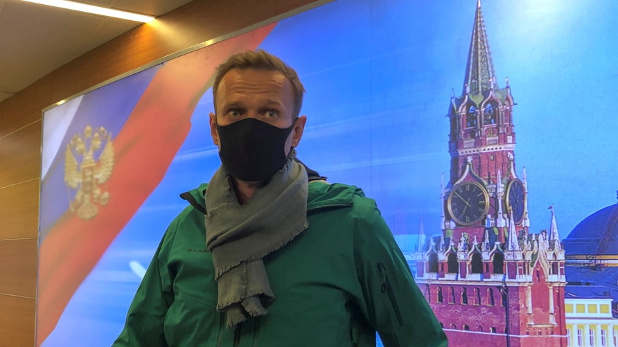 Russian opposition leader Alexei Navalny arrives in Moscow