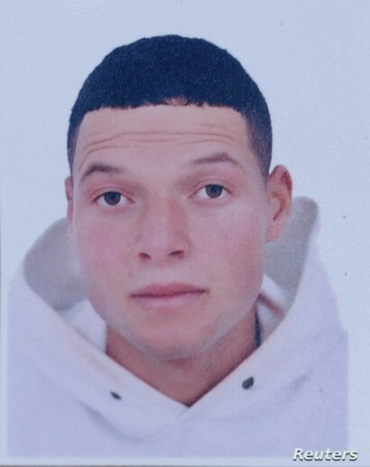 A picture of Brahim al-Aouissaoui, who is suspected by French police and Tunisian security officials of carrying out Thursday's attack in Nice, is seen in this undated photo provided by his family on Oct. 30, 2020.