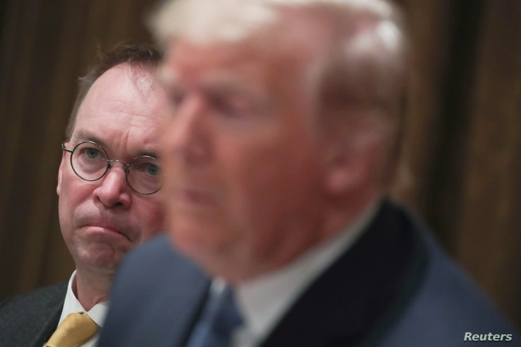 White House Chief of Staff Mick Mulvaney attends as U.S. President Donald Trump hosts a lunch for ambassdors to the U.N…