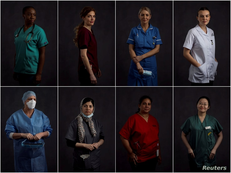 A combination picture shows East Lancashire NHS Trust healthcare workers; Junior Doctor Rahila Dusu, Consultant Orthodontist…