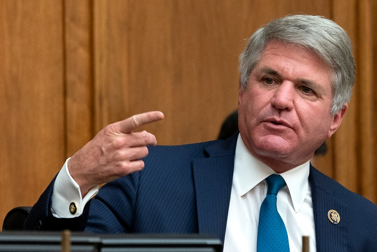 Committee Ranking Member Rep. Michael McCaul, R-Texas, speaks during a House Committee on Foreign Affairs hearing looking into…