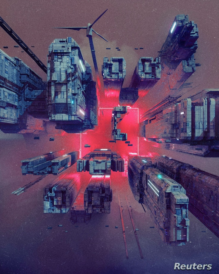 "FILE PHOTO: A detail shot from a collage ""EVERYDAYS: THE FIRST 5000 DAYS"" by a digital artist BEEPLE"