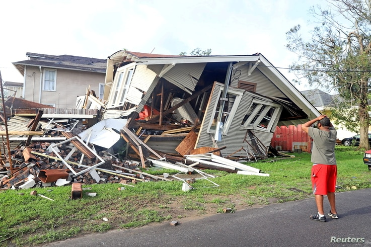 Aftermath of Hurricane Ida in New Orleans
